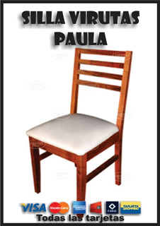 Silla Tapizada Madera Algarrobo Paula
