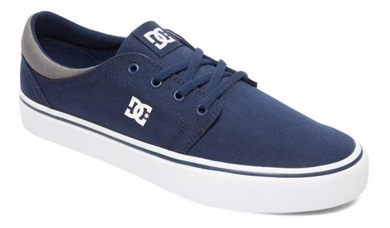 Zapatillas Dc Trase Tx (nvw) Skate Hombre Azul