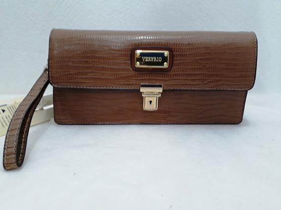 Bolsa De Mão Marrom Vr1572 - Veryrio 26cm