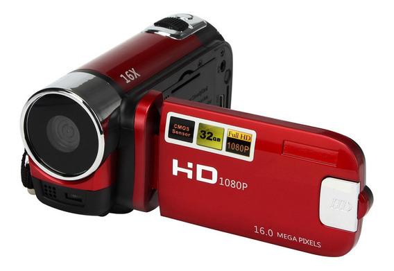 Hd 1080 P Zoom Digital Video Camcorder Vermelho Plug Eua
