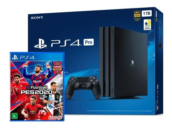 Playstation 4 Ps4 Pro 1tb 4k C/ Game Pro Evolution Soccer
