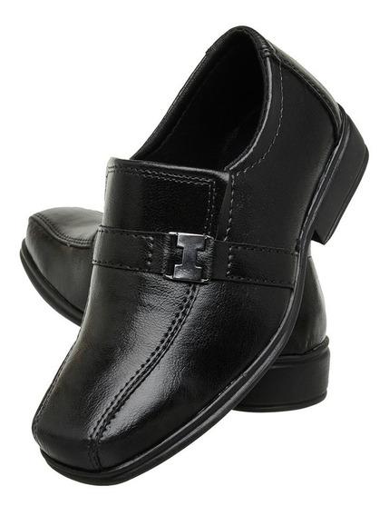 Sapato Social Infantil Masculino Couro Ecologico