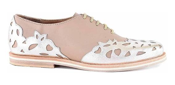 Zapato Mujer Cuero Briganti Abotinado Moda Suela Mccha3004