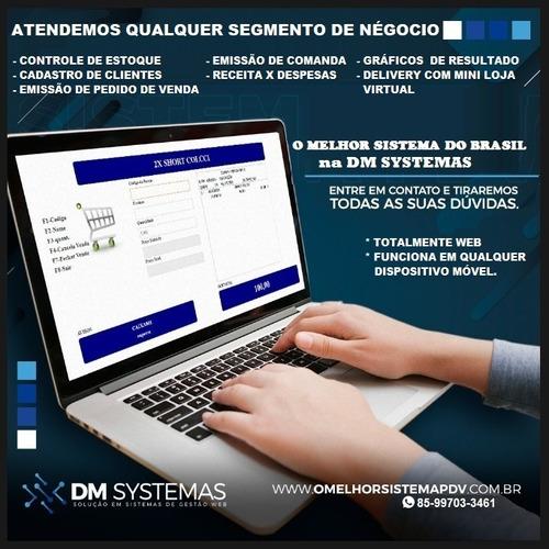 Imagem 1 de 3 de Sistema De Gestão Totalmente Web + Mini Loja Virtual E Pdv