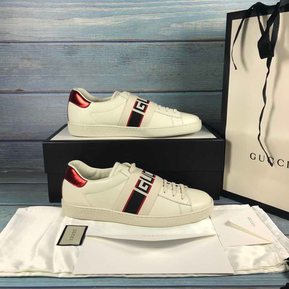 Tênis Gucci White New Ace Elastic Band Sneakers Encomenda