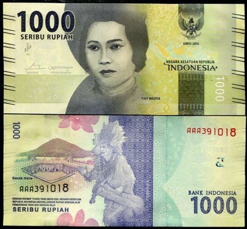 Indonesia 1000 Rupias Billete Nuevo Sin Circular