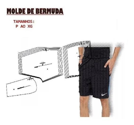 Kit Molde Bermuda Masculino Deportiva Con Bolsillo