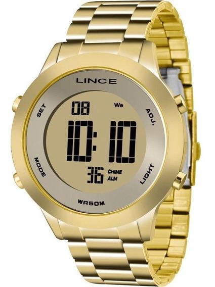 Relógio Lince Feminino Digital Dourado Sdph037lkxkx