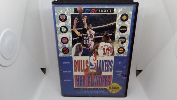 Bulls Vs Lakers N B A Playoffs Para Mega Drive