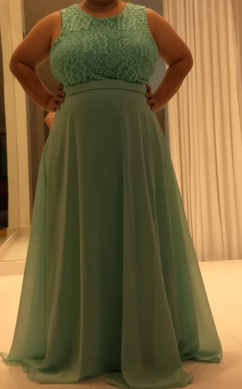 Vestido De Festa Verde (plus Size)