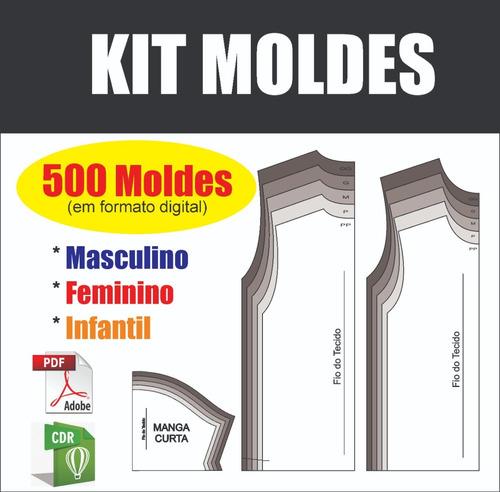Kit 500 Moldes De Roupas Pronto Para Imprimir