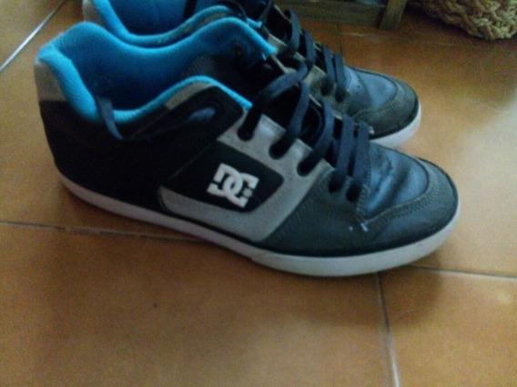 Zapatillas De Hombre Dc, De Cuero N°40