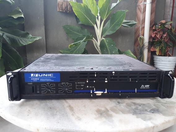Amplificador Unic Zx 600+ Mesa De Som Unic 4 Canais