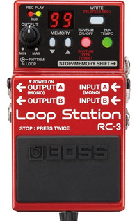 Pedal Boss Loop Station Rc-3 3 Horas De Grabacion