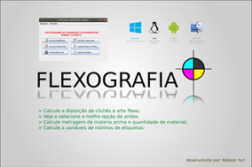 Software Flexografia Calcula Variáveis Flexo Etiquetas