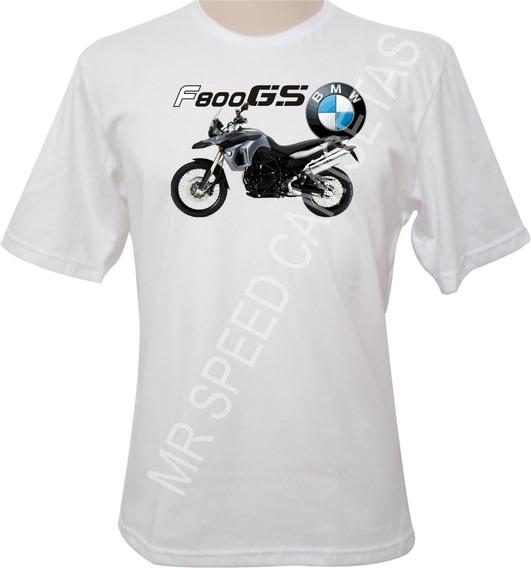 Camiseta Motocicletas Bmw F800 Gs Cinza