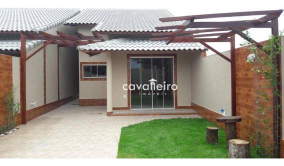 Casa Com 2 Dormitórios À Venda, 74 M²- Jardim Atlântico Leste (itaipuaçu) - Maricá/rj - Ca3452