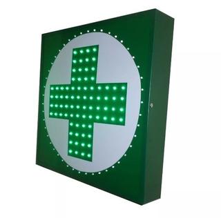 Cartel Led Farmacia Doble Faz 50x50