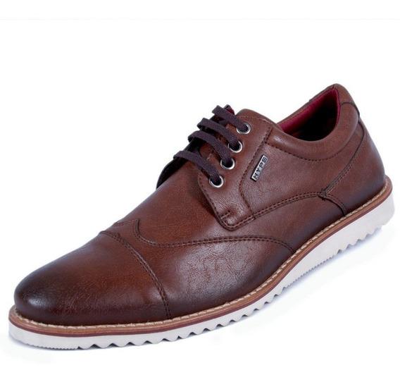 Sapato Casual Masculino Oxford Em Sintético Barato 1004co