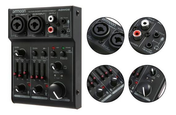 Interface De Áudio Ammoon Agm02