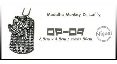 Colar Medalha Monkey D. Luffy (onepiece)