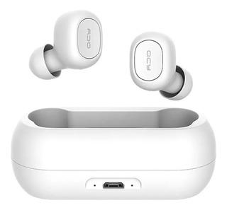 Qcy Qs1 T1c Mini Dual V5.0 3d Som Estéreo Fones De Ouvido Bluetooth Sem Fio Wireless Com Microfone Duplo Caixa De Carga