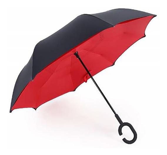 Paraguas - Sombrilla De Doble Capa - Se Abre Reverso