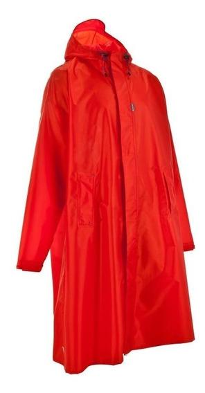 Poncho Capa Impermeable Forclaz Adulto Rojo S/m 8302453 1