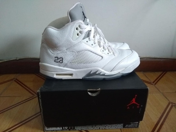 Tenis Jordan 5 White Metallic Tamanho 42 Original Na Caixa