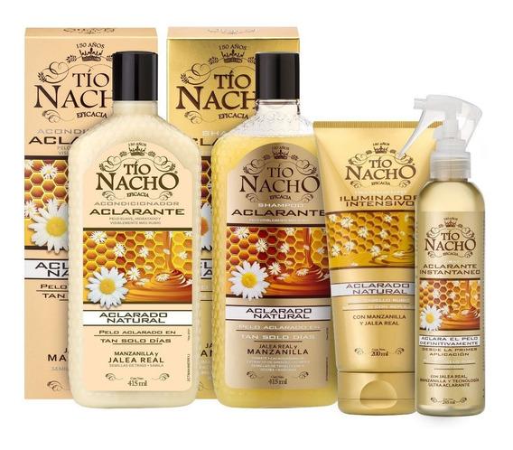Tío Nacho Kit Aclarante Shampoo + Acond + Tratamiento+ Spray