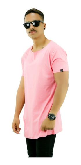 Camiseta Oversized Longline Reta Swag Camisa Masculina