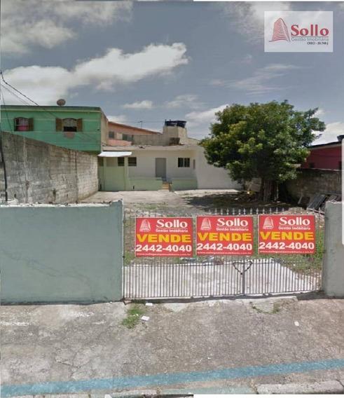 Terreno Plano Com Edícula Nos Fundos - Bonsucesso - Guarulhos/sp - Te0007
