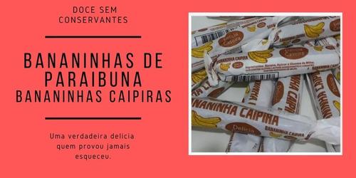 Imagem 1 de 10 de Doce Banana Bananinha De Paraibuna 3 Potes 30 Unidades Cadaa
