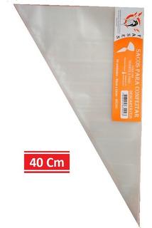 Saco De Confeitar/manga Descartável 40cm- Médio 50 Unidades/