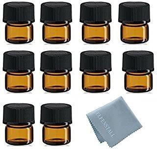 Simple-e 100pcs 1ml (1/4 Dram) Mini Botella De Vidrio Ámbar