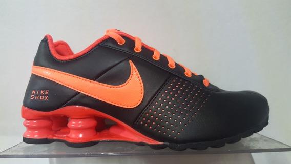 Nike Shox Deliver Dama 317549 066 Negro Naranja
