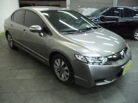 Honda Civic 1.8 Lxl Flex Mec Completo Couro Rodas 2010 Cinza