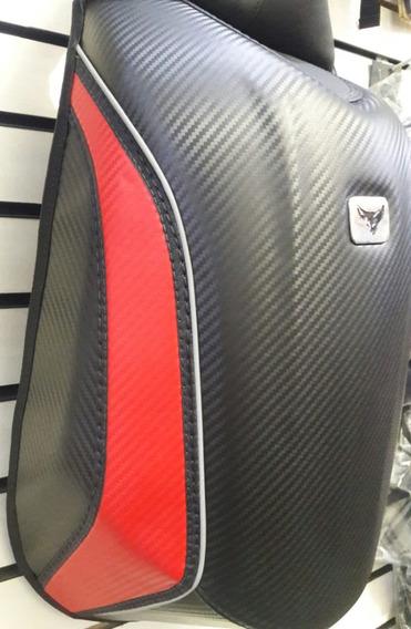 Mochila Moto Aerodinâmica Cupim Rígido Impermeável Vermelha