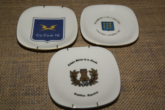 Lote 3 Platitos Militares Porcelana Verbano