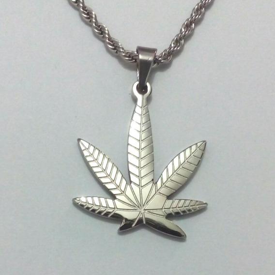 Corrente Pingente Cannabis Erva Santa Maria Reggae Hip A03
