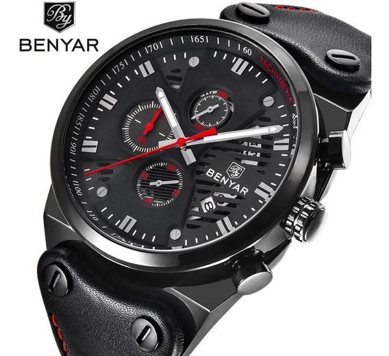 Relógio Luxo Masculino Benyar Pronta Entrega Original Com Caixa