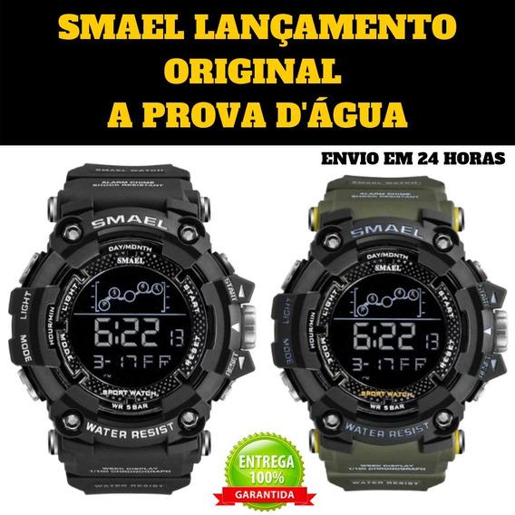 Smael Relógio Masculino Digital Original Esportivo Militar