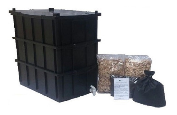 Composteira Doméstica G Completo 36 Litros