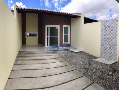 Casa Com 2 Dormitórios À Venda, 75 M² Por R$ 135.000 - Lameirão - Maranguape/ce - Ca0473