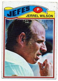 1977 Topps Mexican Jerrel Wilson Jefes De Kansas City # 362