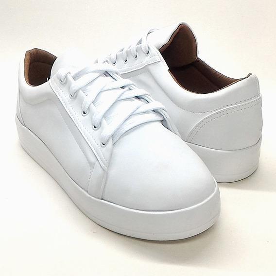 Tenis Feminino Branco Confortável Números Grandes 39 40 41 42 43 Calçados Femininos Grandes Promoção