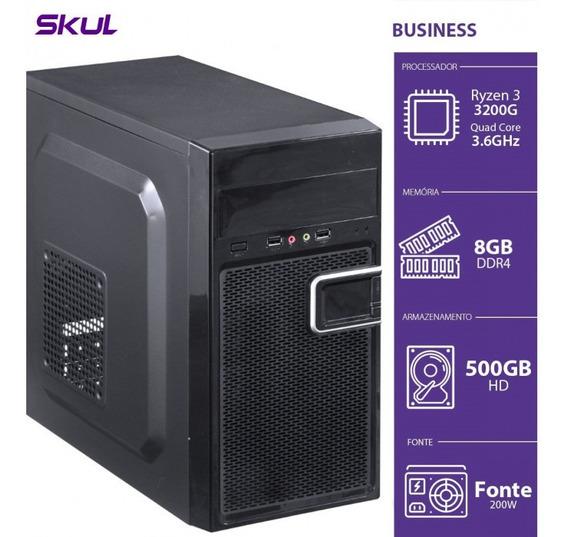 Computador Gamer B300 - R3-3200g 3.6ghz 8gb Ddr4 Hd 500gb