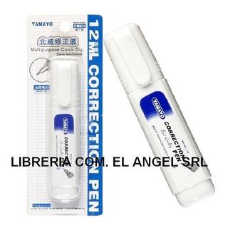 Lapiz Corrector Yamayo 12ml Punta Metálica Tipo Liquid Paper