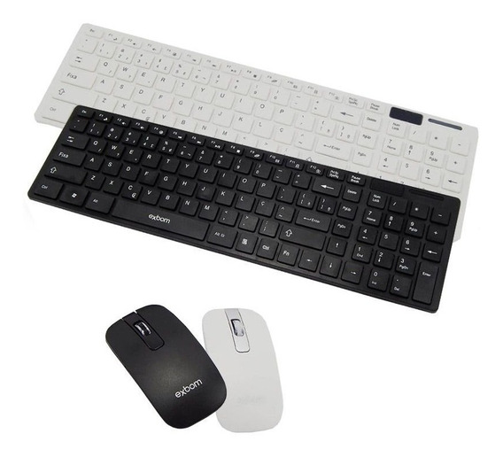 Kit Teclado Mouse Sem Fio Slim Silicone Usb Wireless C/ Capa