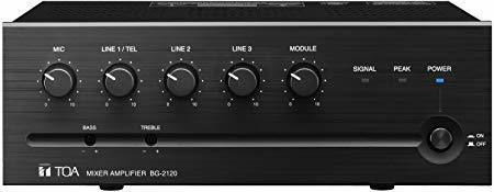 Amplificador Toa Bg-2120cu 120w Mixer-amp 5 Entradass 4ohm ®